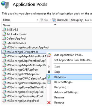 Exchange 2013 http 500 error for some users in OWA / ECP | A